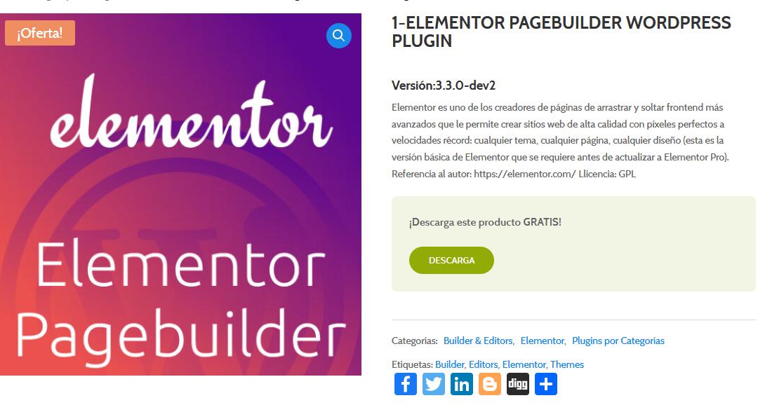 Crear paginas web con Elementor