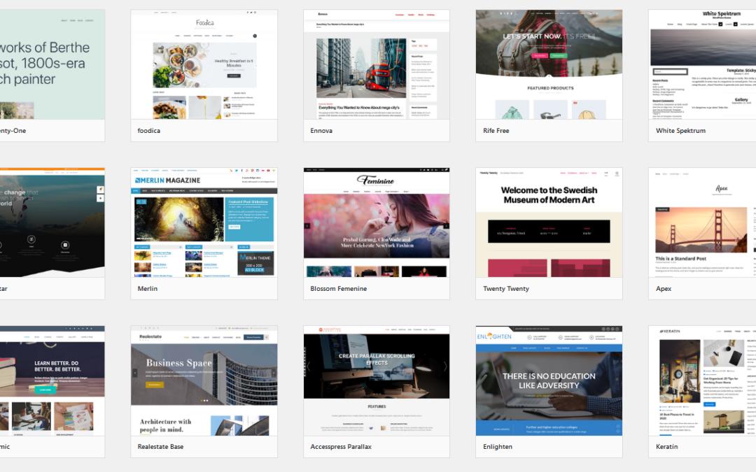 Crear sitios web con WordPress